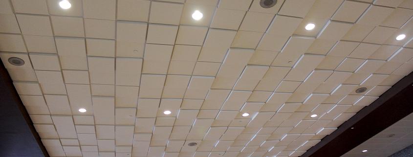 Above View's Square Drop acoustic tiles Dallas Convention Center