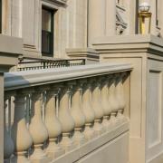 Glass Fiber Reinforced Concrete Column Covers in railing